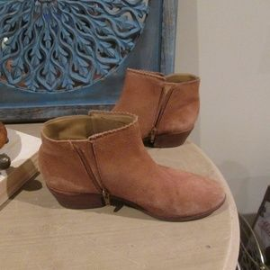 Jack Rogers Chestnut Brown Suede Ankle Boot Bootie
